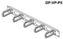 "DP-VP-P5, 19"" Management Panel 1U, plastic hooks 40 x 80 mm -- снимка"