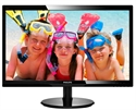 "246V5LSB, 24"" Slim LED 1920x1080 FullHD 16:9 5ms 250cd/m2 10 000 000:1 DVI, VESA, Piano Black -- снимка"