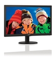 "223V5LSB, Philips 21.5"" Slim LED 1920x1080 FullHD 16:9 5ms 250cd/m2 10 000 000:1 DVI, VESA, TCO, Piano black -- снимка"
