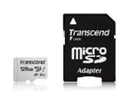 TS128GUSD300S-A, Памет Transcend 128GB UHS-I U3 V30 A1 microSDXC I, Class10 with Adapter, read: up to 95MBs, 45MB/s -- снимка