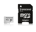 TS16GUSD300S-A, Памет Transcend 16GB UHS-I U1 microSDHC I, Class10 with Adapter, read: up to 95MBs, 45MB/s -- снимка