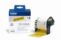 DK22606, Paper Tape BROTHER Film Yellow 62mm X 15.24m for QL-5xx -- снимка
