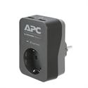 PME1WU2B-GR, APC Essential SurgeArrest 1 Outlet 2 USB Ports Black 230V Germany -- снимка