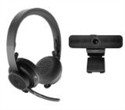 991-000311, Logitech Zone Wireless Bluetooth Headset - Graphite and C925e Webcam -- снимка