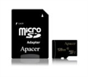 AP128GMCSX10U1-R, Apacer 128GB Micro-Secure Digital XC UHS-I Class 10 (1 adapter), R/W:80/20MB -- снимка