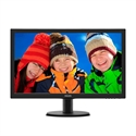 "243V5LHAB, Monitor Philips 23.6"" Slim LED 1920x1080 FullHD 16:9 5ms 250cd/m2 10 000 000:1 HDMI, VGA, DVI, Speakers, VESA, Piano Black, 3 years -- снимка"